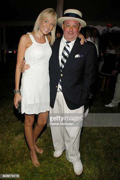 Pamela Gross Finkelstein and Steven Stolman attend The 49th Annual Summer Party ON THE TOWN to Benefit SOUTHAMPTON HOSPITAL Emergency Services at...