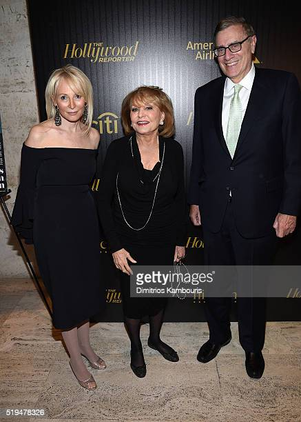 Pamela Gross Finkelstein Barbara Walters and Jimmy Finklestein attend The Hollywood Reporter's 5th Annual 35 Most Powerful People in New York Media...