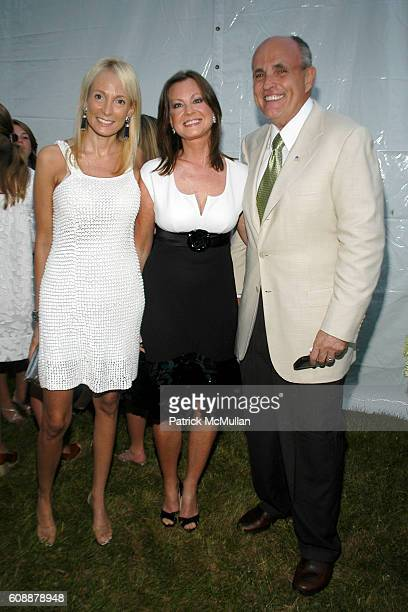 Pamela Gross Finkelstein Judith Giuliani and Rudy Giuliani attend The 49th Annual Summer Party ON THE TOWN to Benefit SOUTHAMPTON HOSPITAL Emergency...