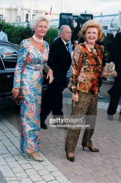 Pamela Harriman et Anne d'Ornano lors de la soirée d'ouverture du Festival de Deauville le 30 aout 1996 France