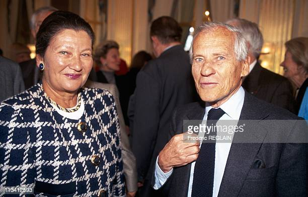 Pamela Harriman Receives Knight In The Order Of Arts And Letters On April 10th 1996 In ParisFrance