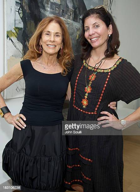 Pamela Hollander and Gilena Simons attend the Rema Hort Mann Foundation conversation with Susan and Michael Hort on September 28 2013 in Los Angeles...