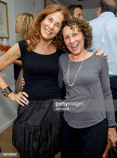 Pamela Hollander and Rhea Perlman attend the Rema Hort Mann Foundation conversation with Susan and Michael Hort on September 28 2013 in Los Angeles...