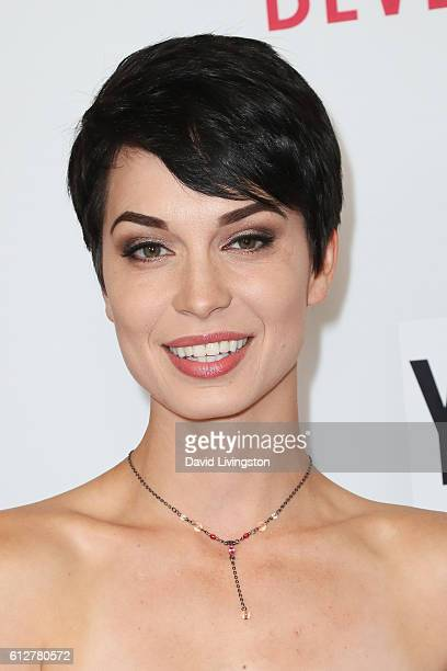 Pamela Horton arrives at the 2016 Streamy Awards at The Beverly Hilton Hotel on October 4 2016 in Beverly Hills California