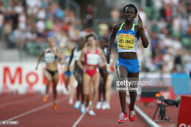 Pamela Jelimo of Kenya on her way to winning the women's 800m during the AF Golden League Bislett Games on June 6 2008 in Oslo Norway