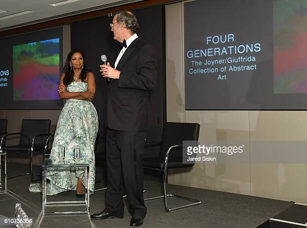 Pamela Joyner and Fred Giuffrida attend Abstracted Black Tie Dinner Hosted by Pamela Joyner Fred Giuffrida and the Ogden Museum of Southern Art to...