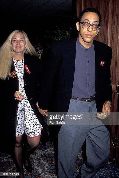 Pamela Koslow Hines and Gregory Hines during Broadway Cares Equity Fights AIDS Presents Broadway Casino Night at Sheraton Hotel in New York City NY...