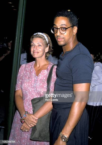 Pamela Koslow Hines and Gregory Hines during In Country Premiere Sptember 12 1989 at Museum of Modern Art in New York City NY United States