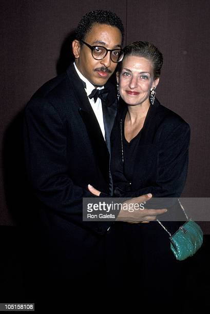 Pamela Koslow Hines and Gregory Hines during Olympic Women's Salute in New York City NY United States