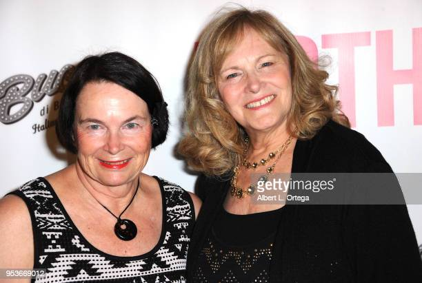 Pamela L Newton and sister arrive for a luncheon in honor of Mother's Day for the release of Pamela L Newton's 'A Candle For My Mother' held at Los...