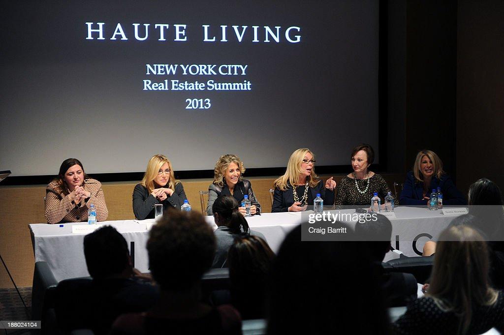 Pamela Liebman, Wendy Maitland, Elizabeth Stribling, Dottie Herman , Diane Ramirez and Dolly Lenz attend the Haute Living New York City Real Estate Summit on November 14, 2013 in New York City.
