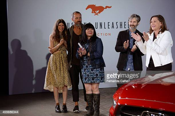 Pamela LoveRogan GregoryAnna SuiScott Mackinlay and Kim Cape attend at the runway show at the Parsons Design Lab for Mustang Unleashed runway show...