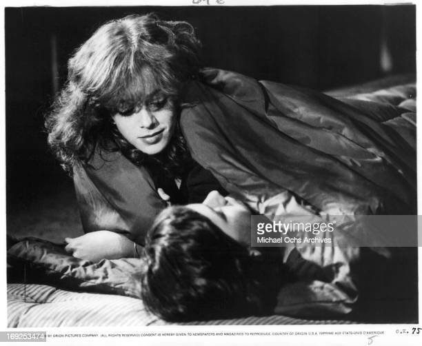 Pamela Ludwig seduces Michael Eric Kramer in a scene from the film 'Over The Edge' 1979