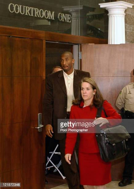 Pamela Mackey Kobe Bryant's attorney Kobe Bryant leave courtroom one in the Eagle County Courthouse