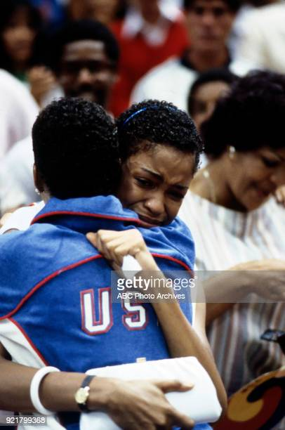 Pamela McGee Women's basketball medal ceremony The Forum at the 1984 Summer Olympics August 7 1984