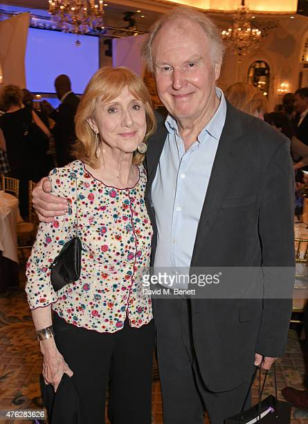 Pamela Miles and Tim PigottSmith attend an after party following the South Bank Sky Arts awards at The Savoy Hotel on June 7 2015 in London England