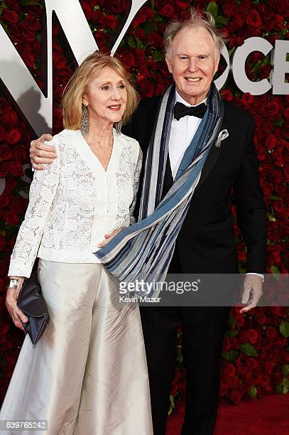 Pamela Miles and Tim PigottSmith attend the 70th Annual Tony Awards at The Beacon Theatre on June 12 2016 in New York City