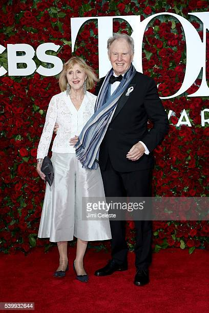 Pamela Miles Tim PigottSmith attend the 2016 Tony Awards Red Carpet at The Beacon Theatre on June 12 2016 in New York City
