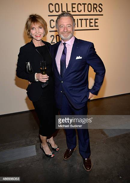 Pamela Mohn and Jarl Mohn attend LACMA's 2014 Collectors Committee Gala Dinner at LACMA on April 26 2014 in Los Angeles California