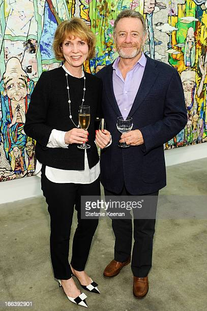 Pamela Mohn and Jarl Mohn attend Takashi Murakami Private Preview And Dinner At Blum Poe on April 11 2013 in Los Angeles California