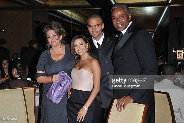 Pamela Parker Eva Longoria Tony Parker and Tony Senior attend the IWC Schaffhausen Party at the Park Hyatt Vendome Paris Hotel on September 08 2008...