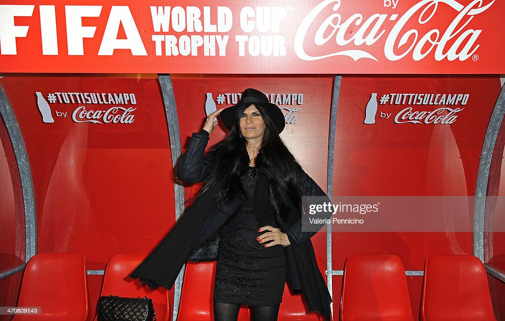 Pamela Prati attends a party during day two of the FIFA World Cup Trophy Tour on February 20, 2014 in Rome, Italy.