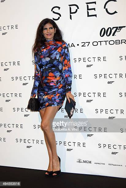 Pamela Prati attends a red carpet for 'Spectre' on October 27 2015 in Rome Italy