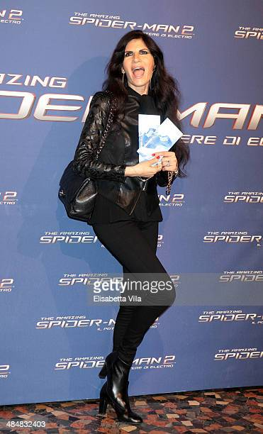 Pamela Prati attends 'The Amazing Spider-Man 2: Rise Of Electro' Rome Premiere at The Space Moderno Cinema on April 14, 2014 in Rome, Italy.