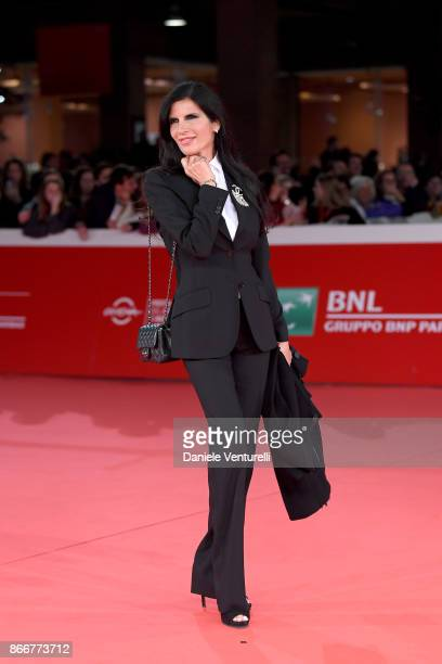Pamela Prati walks a red carpet for Hostiles during the 12th Rome Film Fest at Auditorium Parco Della Musica on October 26 2017 in Rome Italy