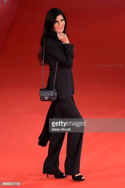 Pamela Prati walks a red carpet for 'Hostiles' during the 12th Rome Film Fest at Auditorium Parco Della Musica on October 26 2017 in Rome Italy