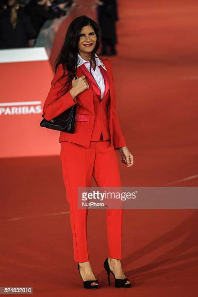 Pamela Prati walks the red carpet for the premiere of 'Truth' during the 10th Rome Film Fest at Auditorium Parco della Musica in Rome 'Truth' is an...