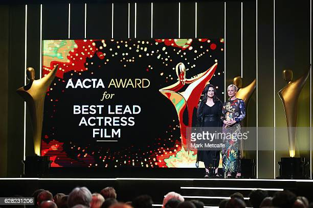 Pamela Rabe and Marta Dusseldorp during the 6th AACTA Awards Presented by Foxtel at The Star on December 7 2016 in Sydney Australia
