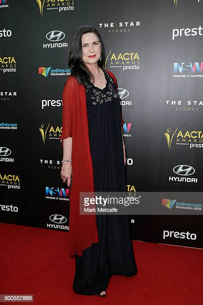 Pamela Rabe arrives ahead of the 5th AACTA Awards Presented by Presto at The Star on December 9 2015 in Sydney Australia