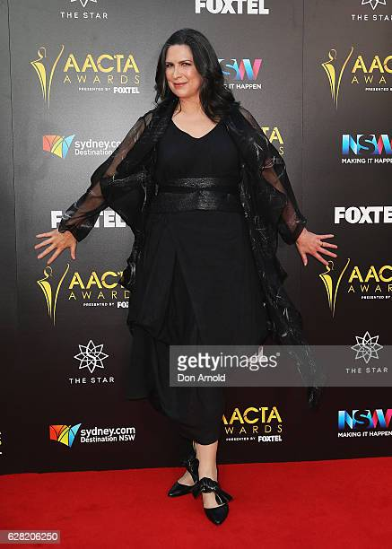 Pamela Rabe arrives ahead of the 6th AACTA Awards at The Star on December 7 2016 in Sydney Australia