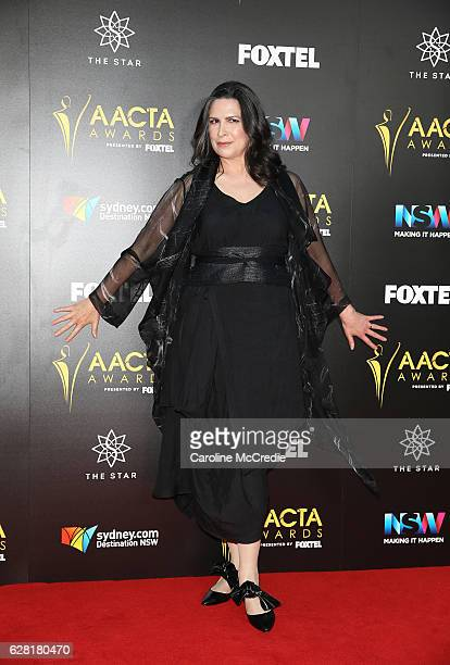 Pamela Rabe arrives ahead of the 6th AACTA Awards Presented by Foxtel at The Star on December 7 2016 in Sydney Australia