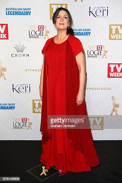Pamela Rabe arrives at the 58th Annual Logie Awards at Crown Palladium on May 8 2016 in Melbourne Australia