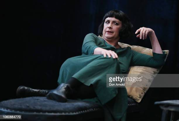 Pamela Rabe plays the role of Alice during a media call for The Dance Of Death at Belvoir Street Theatre on November 13 2018 in Sydney Australia