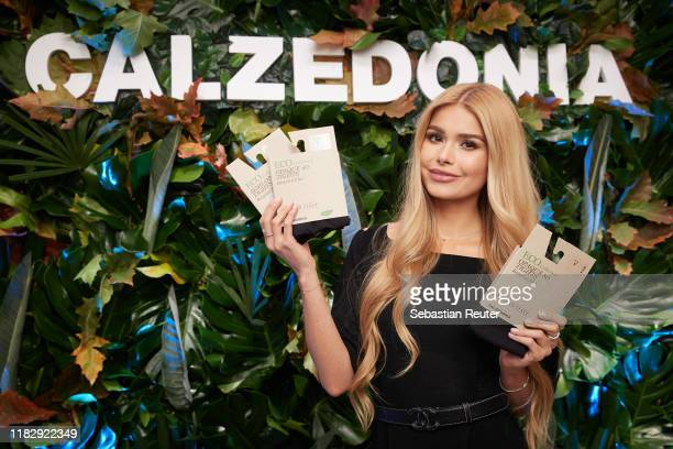 Pamela Reif poses at the meet and greet with Pamela Reif during the presentation of Calzedonia's new Eco Line on October 23 2019 in Hamburg Germany