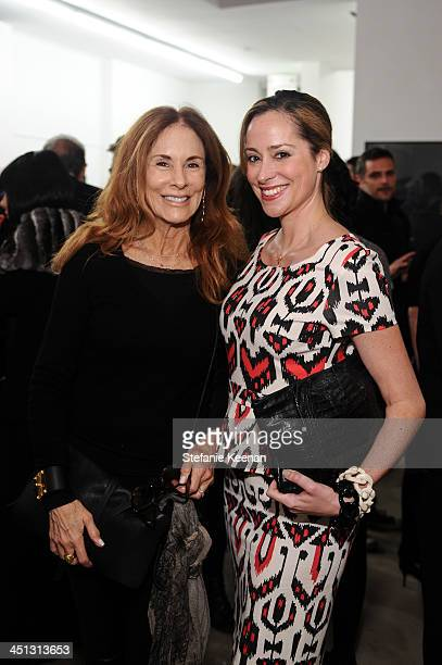 Pamela Robinson and Christina Gerber attend The Rema Hort Mann Foundation LA Artist Initiative Benefit Auction on November 21, 2013 in Los Angeles,...