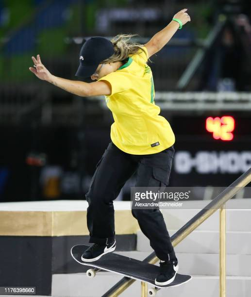 Pamela Rosa of Brazil competes during the finals of the WS/SLS 2019 World Championship at Parque Anhembi on September 22, 2019 in Sao Paulo, Brazil.