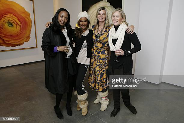 Pamela Roseberg Muriel Hurtado Cecilia Rodhe and Beth O'Donnell attend In Full Bloom Exhibition of Photographs by Ron Agam at Tyler Rollins Fine Art...