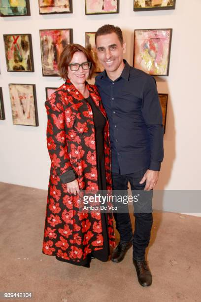 Pamela Ruiz and artist Damian Aquiles attend an evening for FACUNDO Rum Collection and Artist Damian Aquiles to launch a collection of luxury bar...