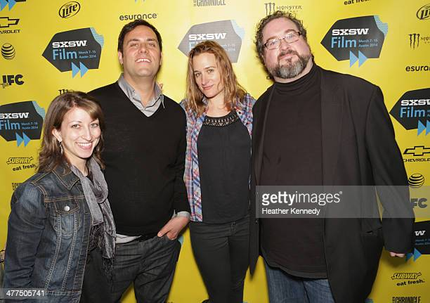 Pamela Ryan Jason Orans director Margaret Brown and Brian Devine attend The Great Invisible Photo Op and QA at the 2014 SXSW Music Film Interactive...