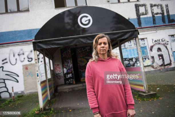 Pamela Schobess, owner of ClubGretchen and chairwoman of the local Club Commission industry group, outside her club in Berlin, Germany, on Friday,...