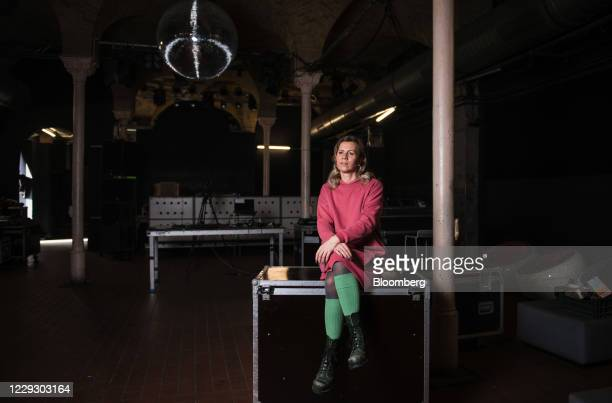 Pamela Schobess, owner of ClubGretchen and chairwoman of the local Club Commission industry group, at her club in Berlin, Germany, on Friday, Oct....