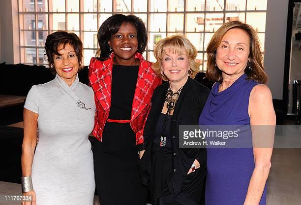 Pamela Serure Deborah Roberts Pat Mitchell and Carole Isenberg attend the Events Of The Heart The Million Women's Heart Summit at Donna Karan's Urban...