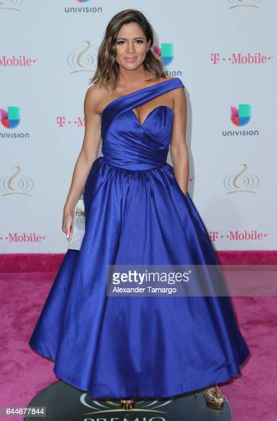 Pamela Silva arrives at Univision's 29th Edition of Premio Lo Nuestro a La Musica Latina at the American Airlines Arena on February 23 2017 in Miami...