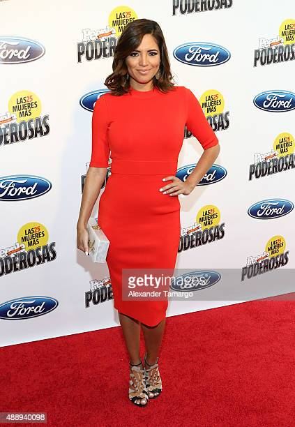 Pamela Silva attends Las 25 Mujeres Mas Poderosas luncheon hosted by People En Espanol at Moore Elastika on September 18 2015 in Miami Florida