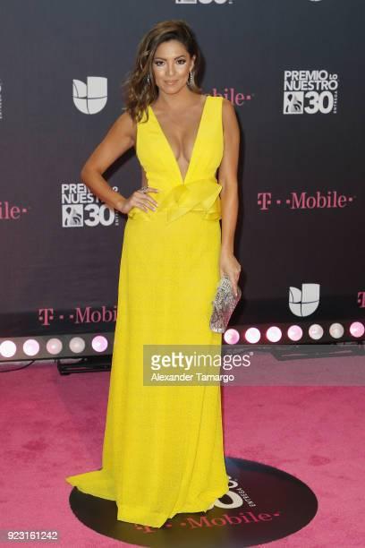 Pamela Silva attends Univision's 30th Edition Of 'Premio Lo Nuestro A La Musica Latina' at American Airlines Arena on February 22 2018 in Miami...