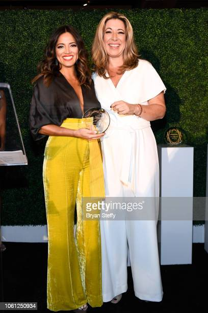 Pamela Silva Conde and Luz Maria Doria attend the Leading Ladies of Entertainment Luncheon during the 19th annual Latin GRAMMY Awards at The...